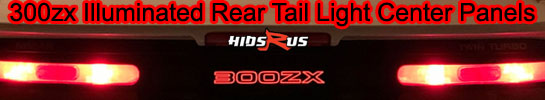 300zx Illuminated light up glow rear tail light center panels
