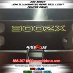 green 300zx rear light up glow panel OFF IN DIRECT LIGHT