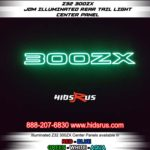 green 300zx rear light up glow panel ON IN THE DARK