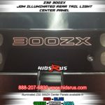 red 300zx rear light up glow panel OFF IN DIRECT LIGHT