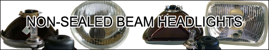 non sealed beam headlight housings